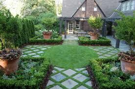 Exterior Creative Green Perennials Garden With Various Tall Good Trees For Backyard