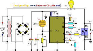 midnight security light circuit schematic circuit diagram schematic circuit diagram of ceiling fan and regulator connection midnight security light circuit diagram