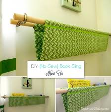 Diy No Sew Curtains Diy No Sew Book Sling Cute For The Nursery No Sewing Required