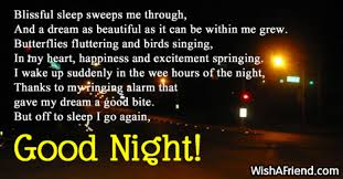 Sweet Dreams Quotes And Poems Best of Good Night Poems