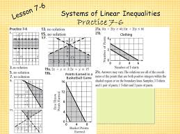 29 systems of linear inequalities