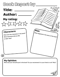 Book Report Template Book Report Worksheet Template Free Printable Papercraft