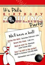Bowling Birthday Invitation Templates Phonegenius Co