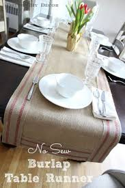 A simple way to create a bordered burlap table runner - no sewing needed!