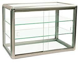 glass display case. Anodized Aluminum Glass Display Case Key Lock