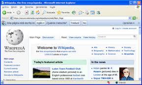 internet explorer 6 using google chrome frame to render wikipedia s main page