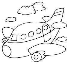 Kleurplaat Vliegtuig Thema Vakantie Kleuters Puntos De Bordado