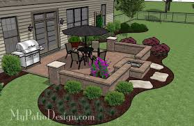 design fire pit in seating wall patio tinkerturf