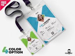 Id Template Ui Office Dribbble Set Design Card Psd