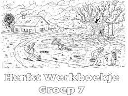 Herfst Werkboekje Groep 7 Werkboekjes Printen Op Minipretnl