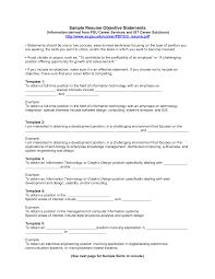 Resume Objective Statements Berathen Com