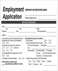 Employment Job Application Form 49 Job Application Form Templates Free Premium Templates