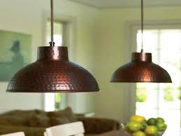 hammered copper pendant light shade