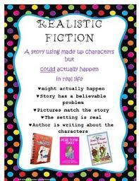 Fiction Chart Realistic Fiction Anchor Chart Fiction Anchor Chart