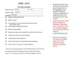 Employee Hire Forms New Hire Paperwork Ppt Download