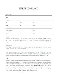 Venue Contract Template Party Planner Contracts Event Contract Template Best Of