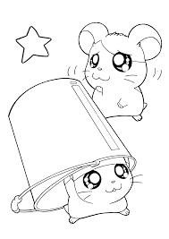 Hamtaro Paradijs Kleurplaat En Cappy Cute Baby Hamster Pictures