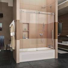 sliding glass shower doors over tub. Wonderful Over EnigmaX 56 In To 59 X 62 Frameless Sliding Inside Glass Shower Doors Over Tub The Home Depot