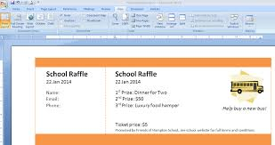 Microsoft Office Templates Tickets Best Print Numbered Tickets In Word Raffle Ticket Creator