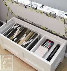 diy file storage bench simple home office ideasoffice in bedroom charming small guest room office ideas
