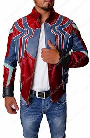 spiderman infinity war leather jacket free t shirt