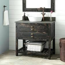 reclaimed wood bathroom vanity vessel sink distressed pine vanities