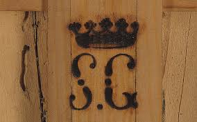 the initials sg beneath the royal coronet was the collector s mark of the infante don sebastián gabriel de borbón who had one of the most important