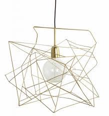 Lampenkap Asymetric Glimmend Goud Metaal ø45cm Lampen Hanglamp