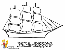 Small Picture Full Rigged Tall Ship Coloring Sheet Free Sharp Ships Boats