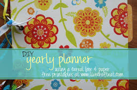 Diy Planner From A Cereal Box 2013 Free Printables Live Craft Eat
