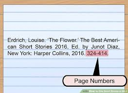 3 Ways To Cite Short Stories In Mla Wikihow