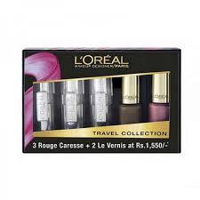 l 39 oreal paris rouge caresse lipstick color riche vernis travel collection c makeup kits make up