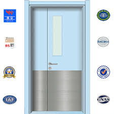 colorful timber door waterproof hpl wooden door with glass window hd ta 011