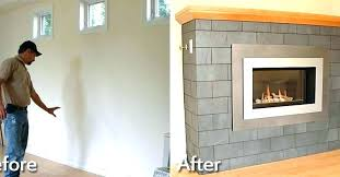 wood fireplace installation