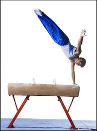 vault gymnastics silhouette. Silhouette Of Boy Gymnast - Male Performing Routines On Vaulting Horse Stock Photo Premium Vault Gymnastics