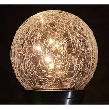 Large Crackle Solar Lights Wilko Solar Light Crackle Ball Large