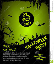 halloween party flyer template free halloween party flyer template green and black stock vector