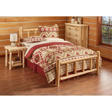 Cedar Log Scale Chart Castlecreek Cedar Log Bed Queen