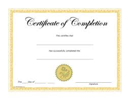 Certificate Of Completion Templates Completion Certificate Free Printable Allfreeprintable Com