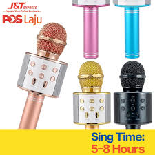 <b>WS858 Wireless Karaoke Microphone Portable</b> Bluetooth KTV ...
