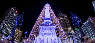 Indianapolis Monument Circle Tree Lighting Circle Of Lights 2018 Five Things To Know Downtown Indy Blog