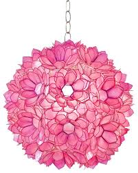 worlds away hot pink capiz shell lotus pendant venus p