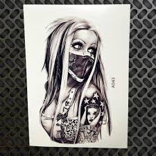 новый дизайн сексуальная девушка с маской временные татуировки стикеры мужские