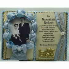 Dieser tag ist neben der silberhochzeit (nach 25 jahren) und der goldenen. Blaues Deko Buch Zur Diamantenen Hochzeit Fur Foto