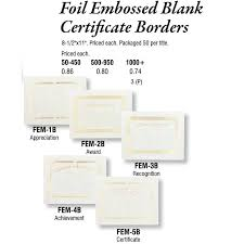 Foil Embossed Blank Certificate Borders Archives - Promotional Items ...