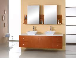 Double Bathroom Sink Cabinet Abodo 61 Inch Modern Bathroom Vanity Honey Oak Finish