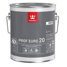 <b>Краска</b> для стен и потолков <b>Tikkurila Prof</b> Euro 20, белая, 2,7 л ...