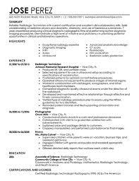 rad tech resume