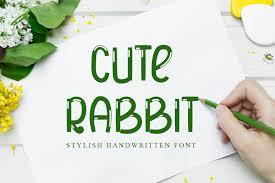 <b>Cute Rabbit</b> Font | dafont.com