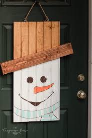 diy rustic snowman door hanger dihwork